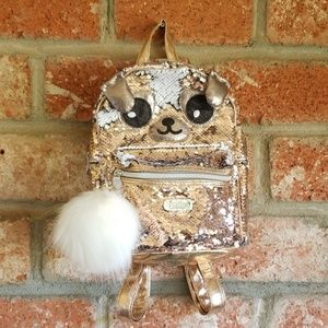 Justice Sequined mini animal backpack